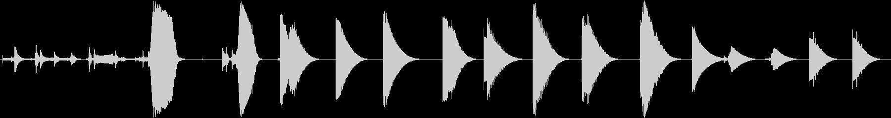 トーンザップレーザー各種の未再生の波形