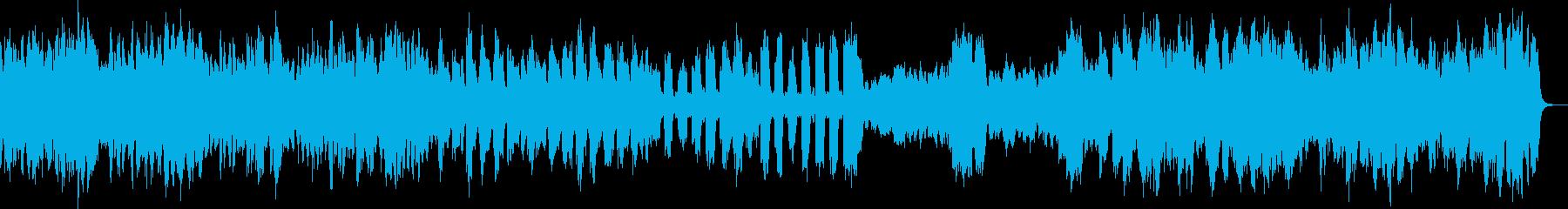リコーダーの生演奏で優雅な舞踏の音楽の再生済みの波形