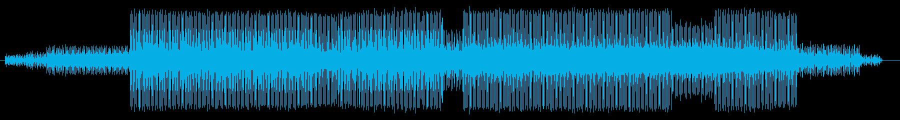 パッドサウンドがクールなテクノの再生済みの波形