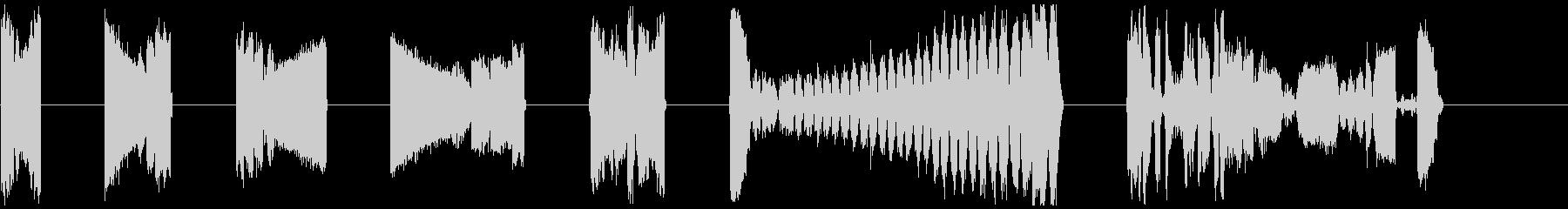 DJ歯科医ドリルX7の未再生の波形