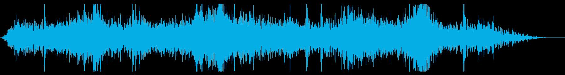 流星群:バーストとヒットの再生済みの波形