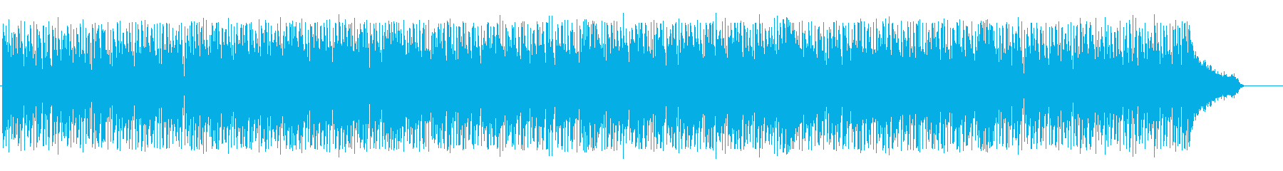 Bright rhythmic techno BGM's reproduced waveform