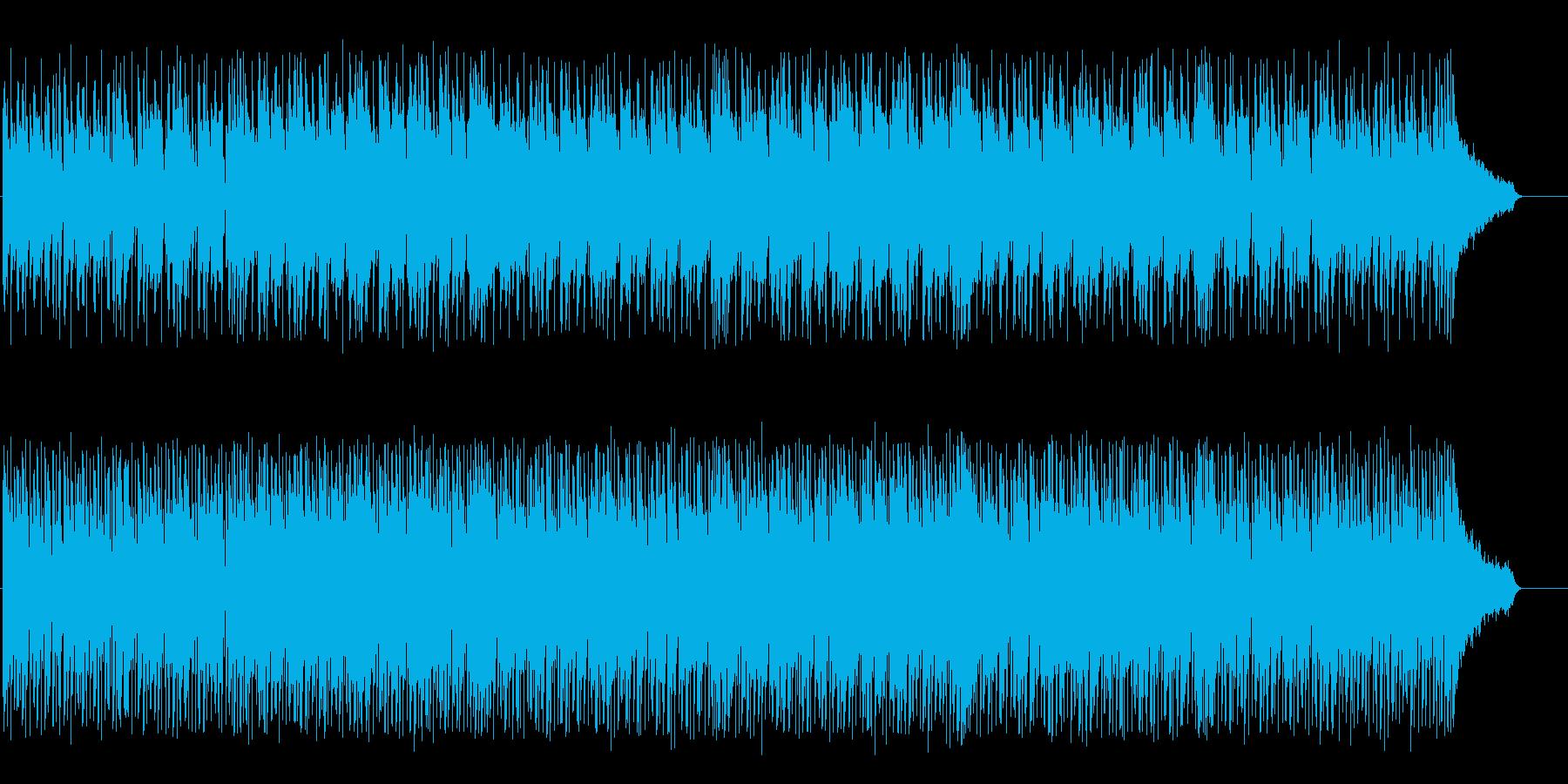 Bright rhythmic techno BGM's reproduced waveform