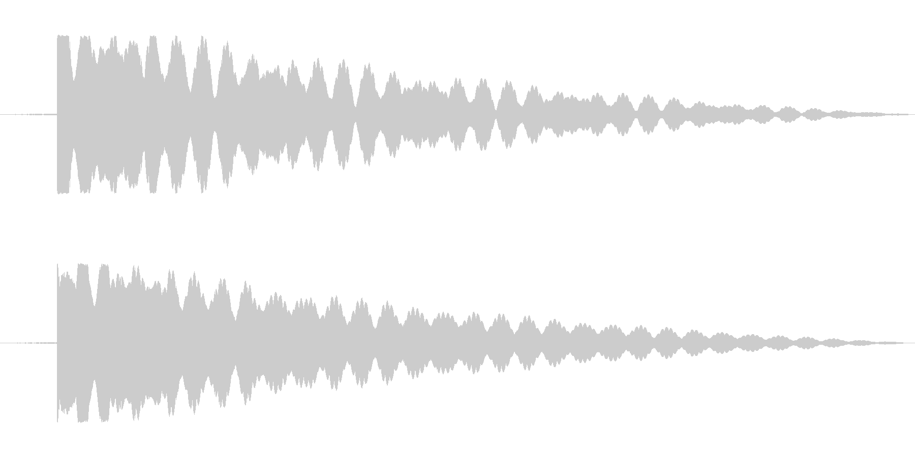 仏壇、おりんの音。の未再生の波形