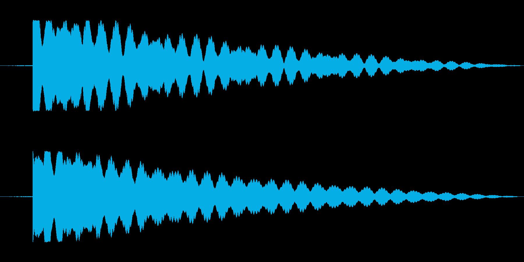仏壇、おりんの音。の再生済みの波形