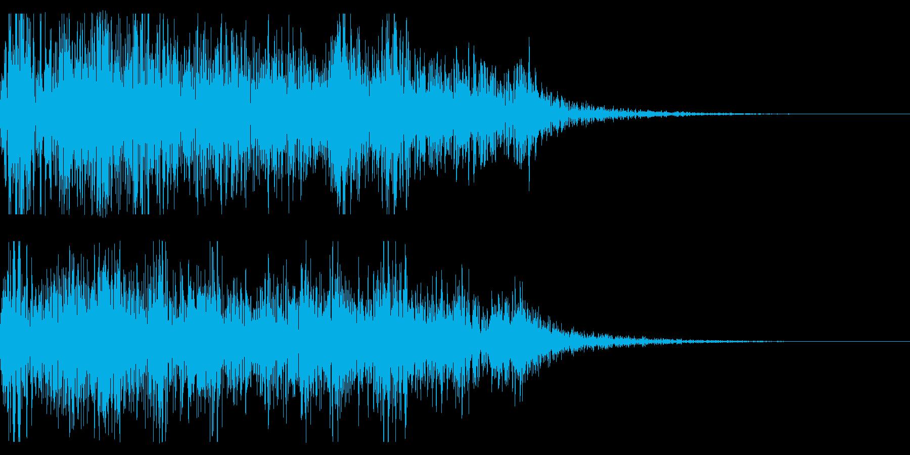 連続花火の本当にリアルな効果音!08の再生済みの波形