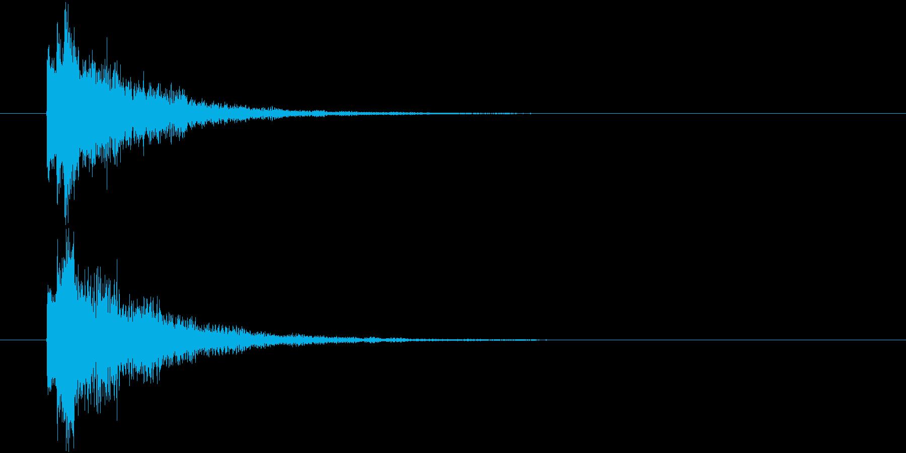ポロロン①(スタート・テロップ・決定)の再生済みの波形