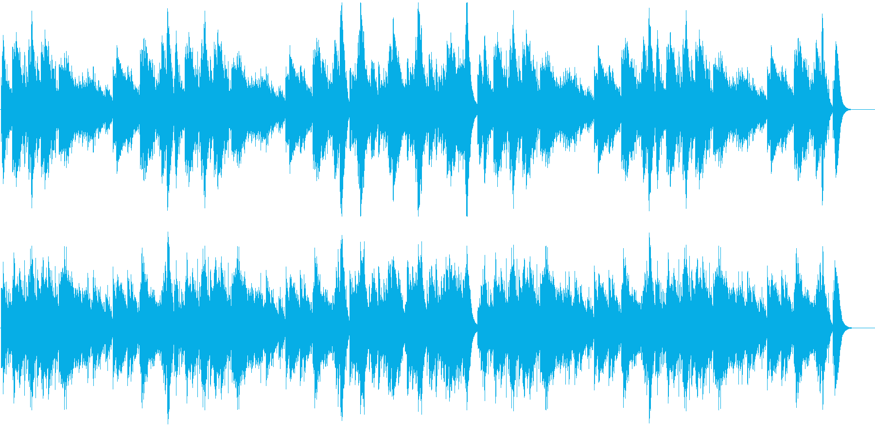 リズミカルで可愛らしいオルゴールの再生済みの波形