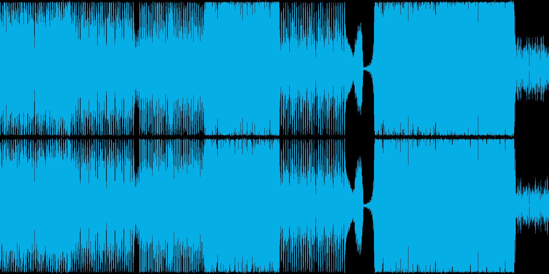 【ループ仕様】スピード感重視のバトル曲の再生済みの波形