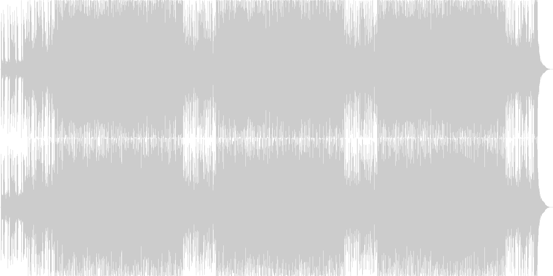 かわいいベルが主役うきうきポップな日常aの未再生の波形