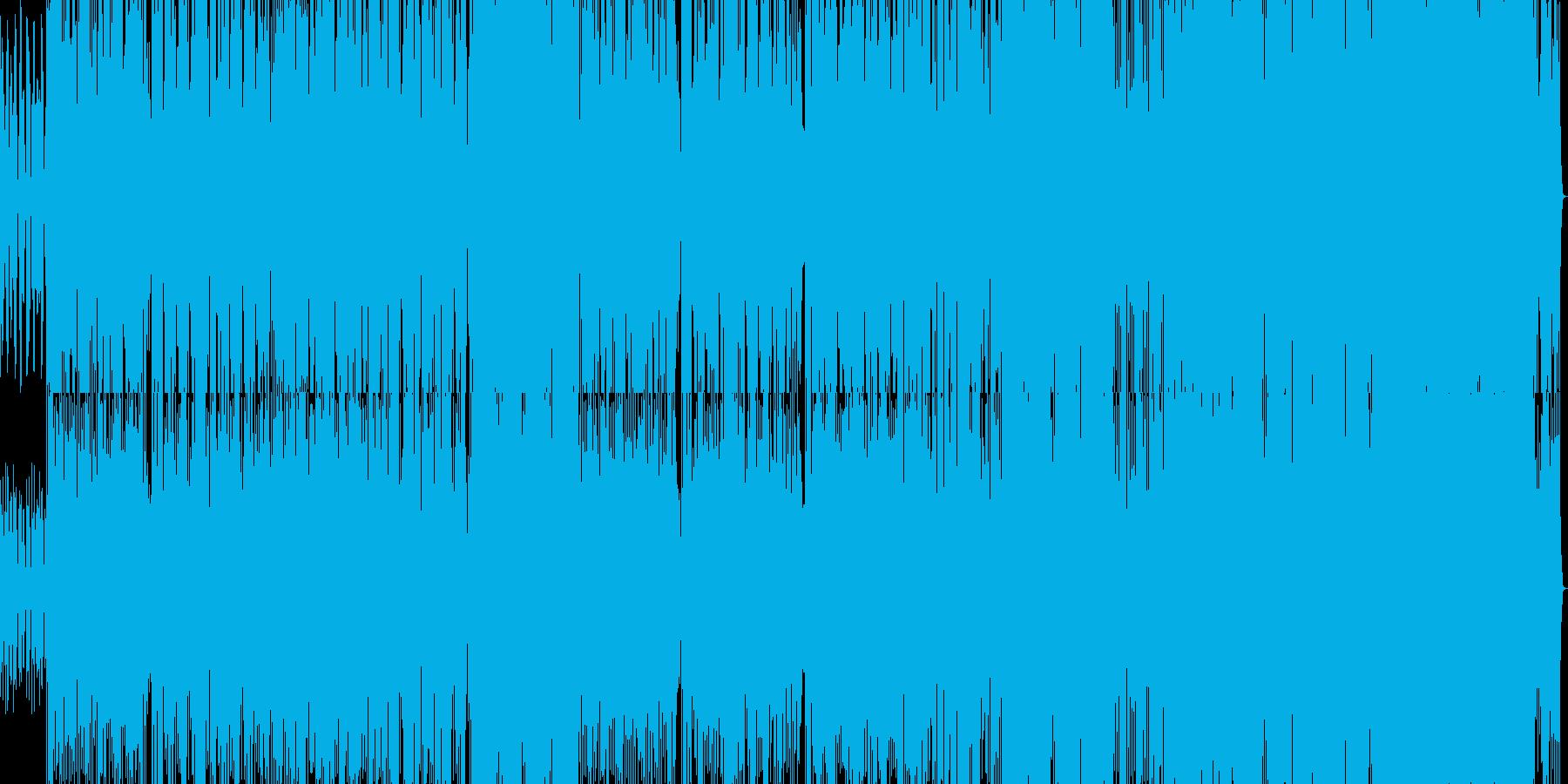 ラテンギターの情熱的な歌の再生済みの波形