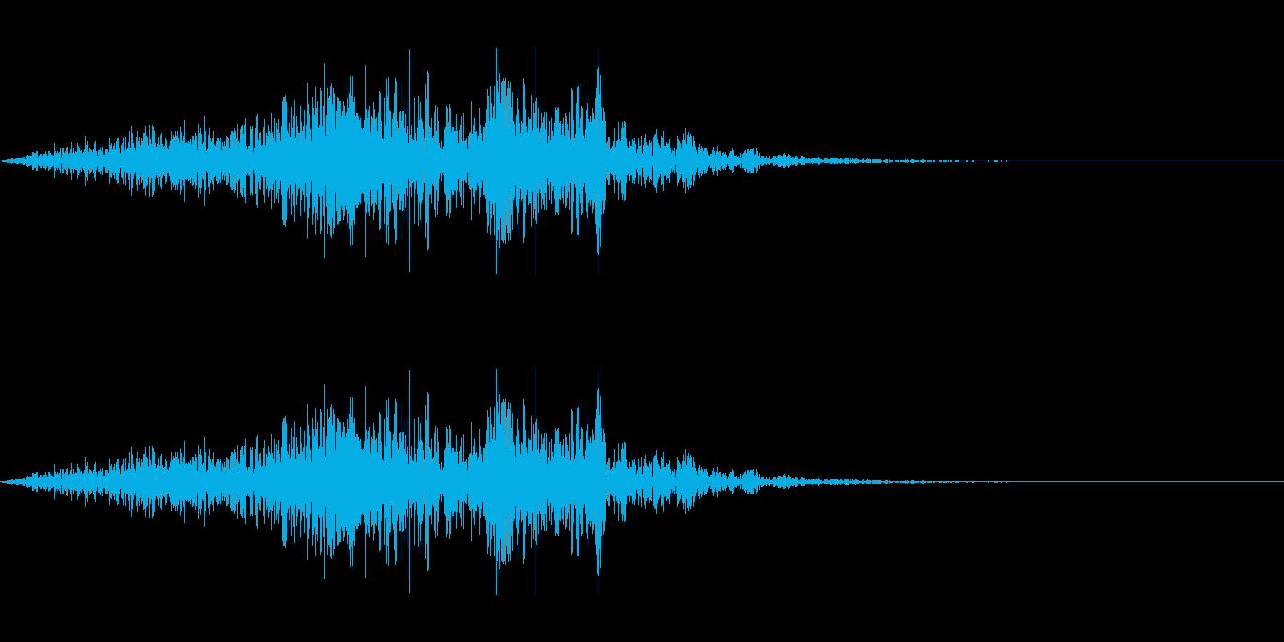 架空のモンスターの鳴き声(咆哮)の再生済みの波形