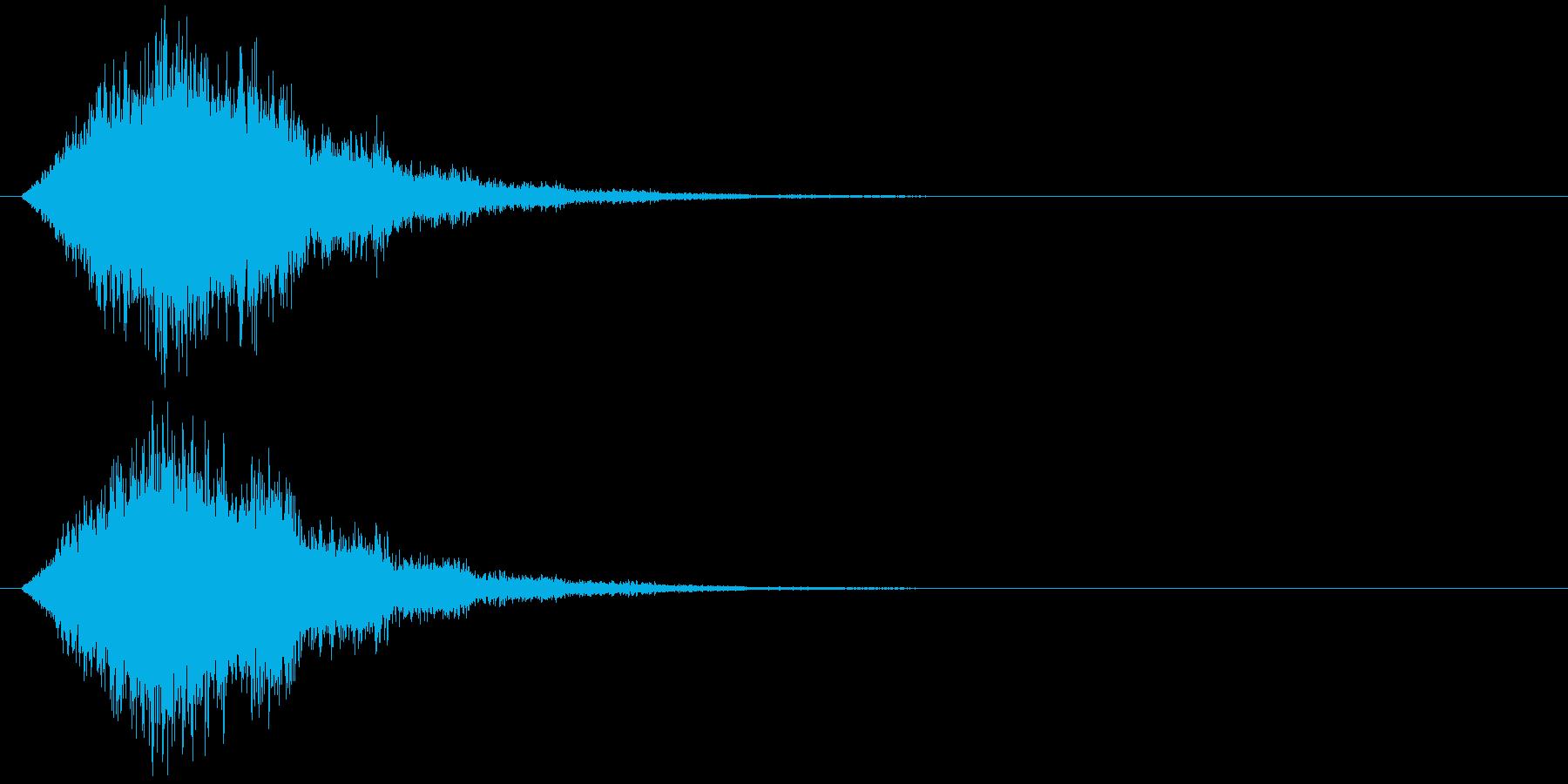 竜巻魔法の再生済みの波形