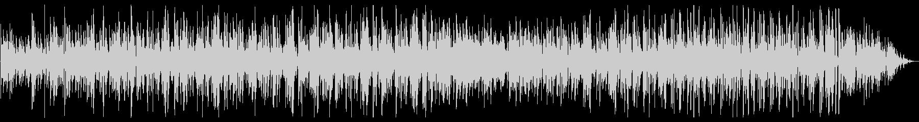 ジングルベルのボサノバジャズボーカルの未再生の波形