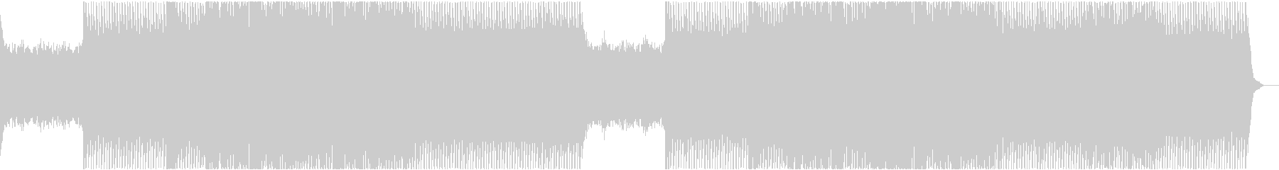 楽しげなエレキギターリフのエレクトロニカの未再生の波形