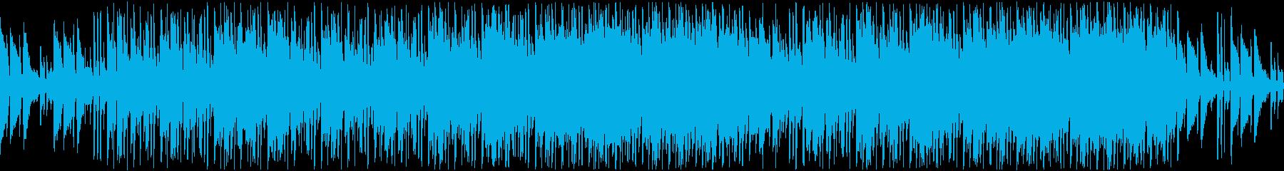 アコギ主体のチル+アンビエント系ループの再生済みの波形