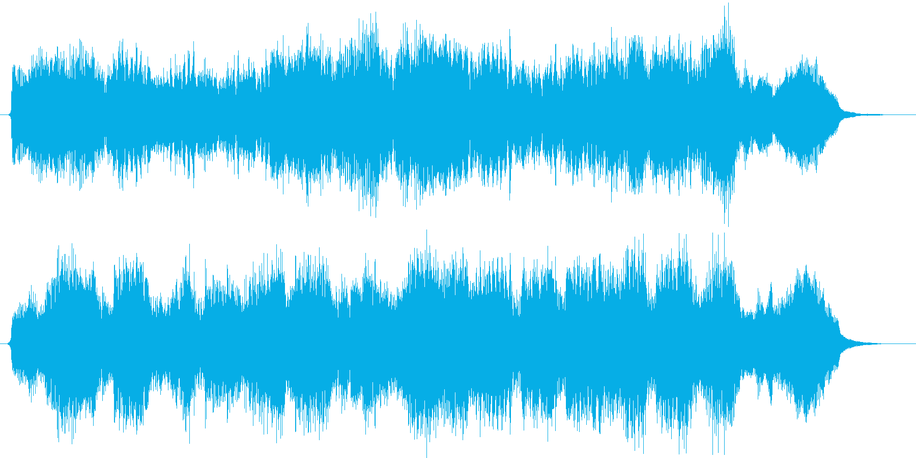 CMや映像、ピアノ、ストリングス、15秒の再生済みの波形