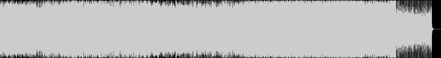 ノリのある元気なEDMの未再生の波形