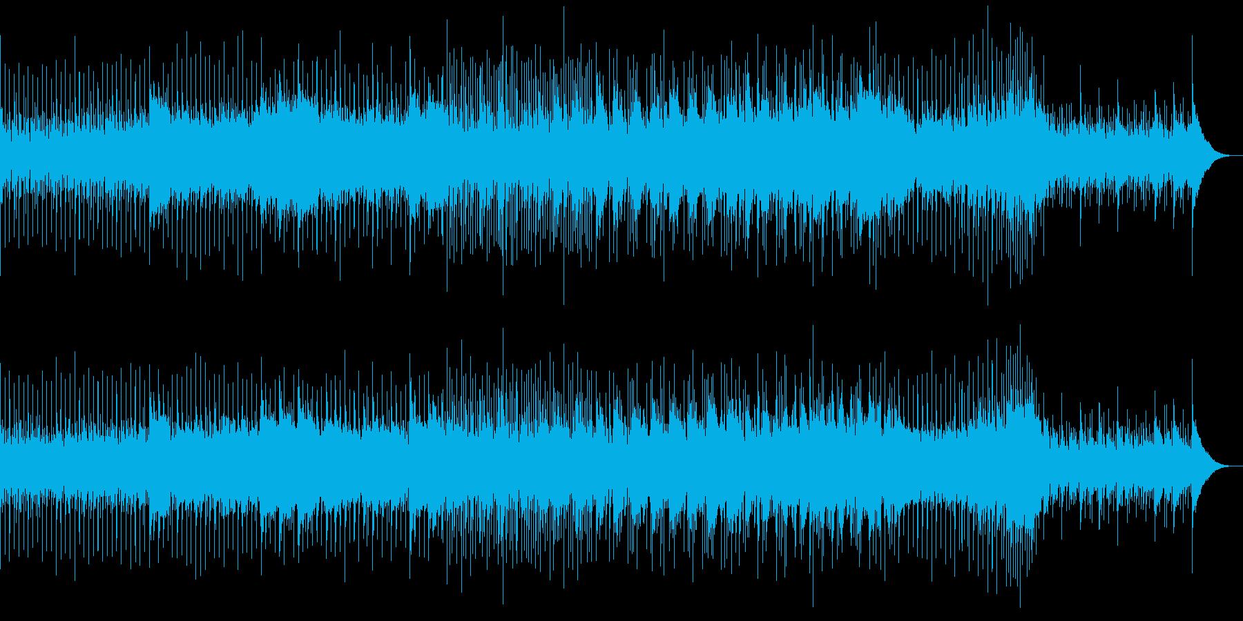 シリアスなピアノとストリングスの再生済みの波形