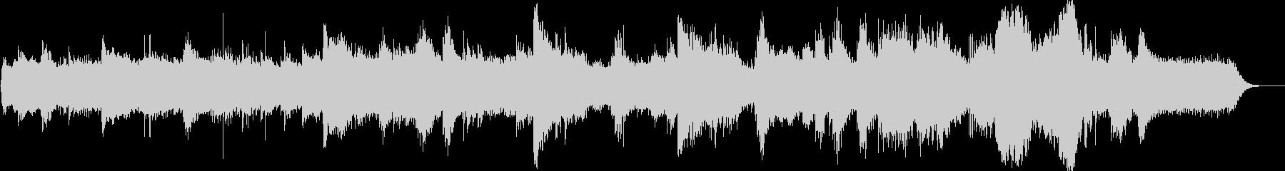 静かな水音とピアノとシンセサイザーの未再生の波形