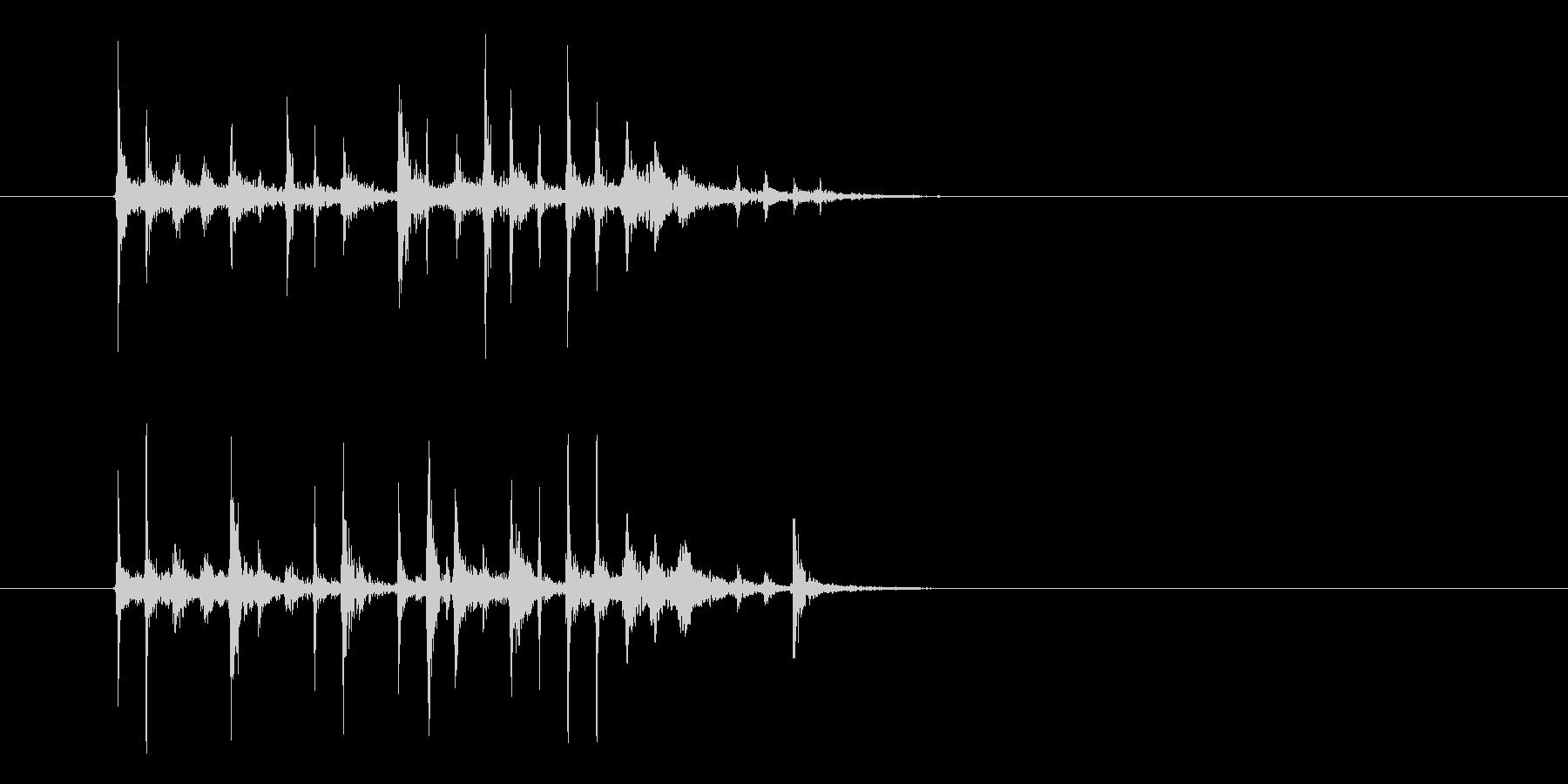 パーカッションによるショートジングルの未再生の波形
