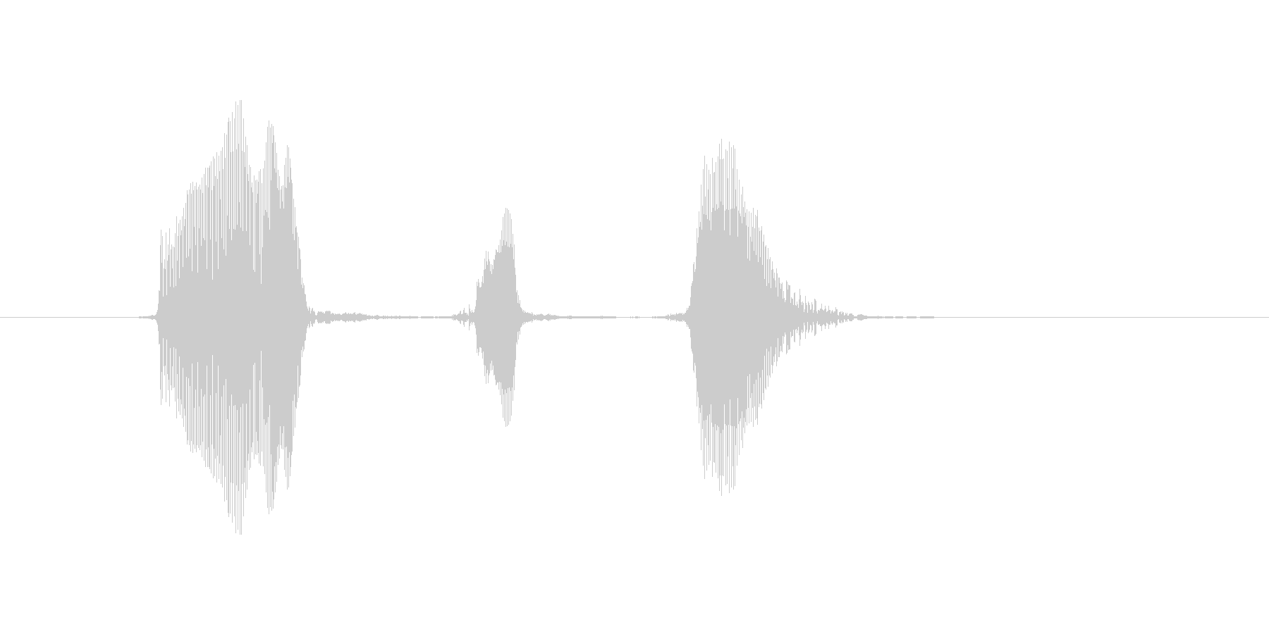 うっきっき!の未再生の波形
