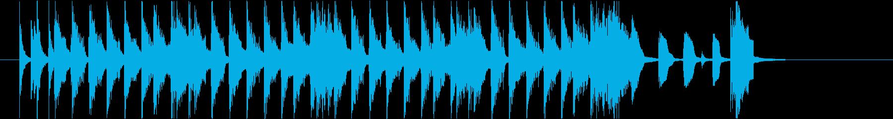 ソウルフルでハッピーな雰囲気のジングル♪の再生済みの波形