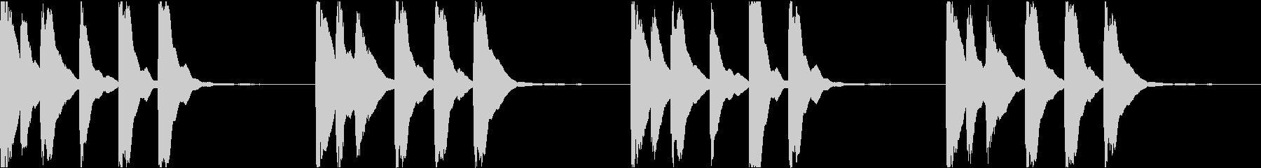 シンプル ベル 着信音 チャイム C-2の未再生の波形
