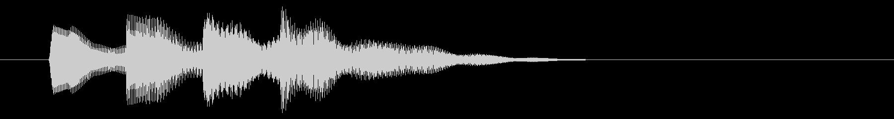 ニュース アラート03-1の未再生の波形
