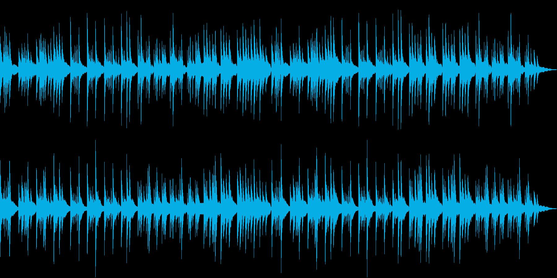 少し悲しげなヒーリングソロピアノの再生済みの波形