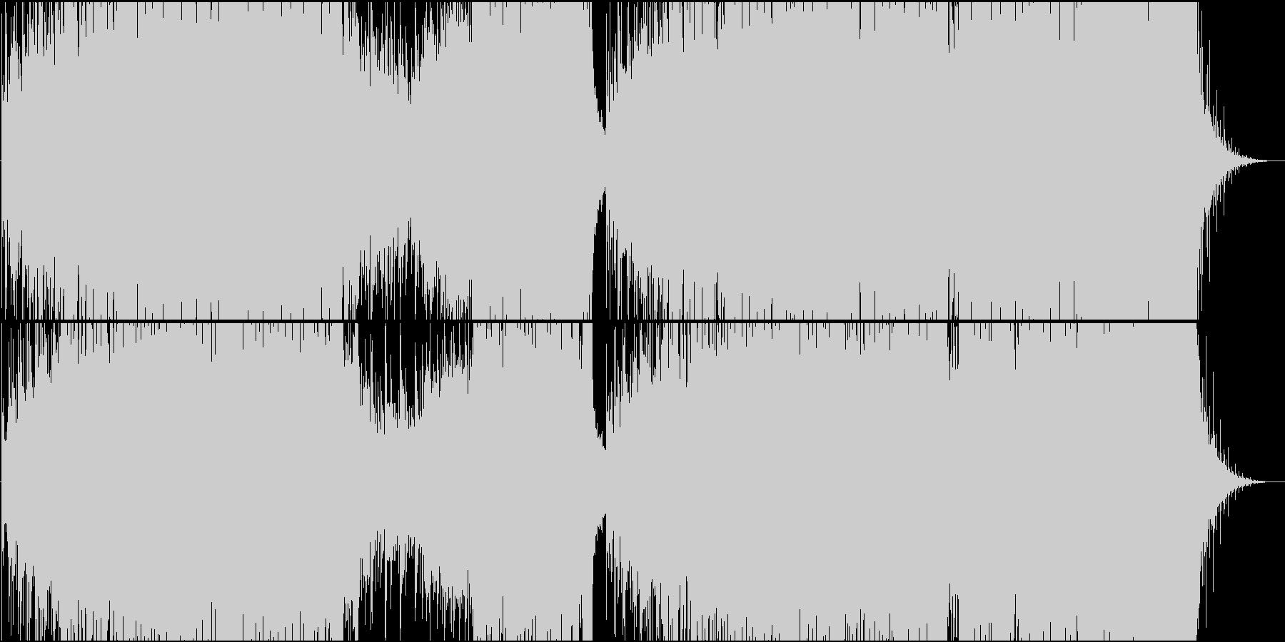 映像用トランス系静かで爽やかなEDMの未再生の波形