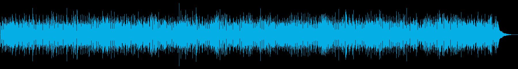 穏やかな雰囲気のフォークロックBGMの再生済みの波形