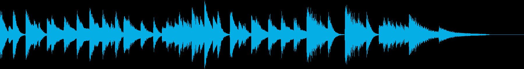 おうち時間♪ほのぼの可愛いピアノジングルの再生済みの波形