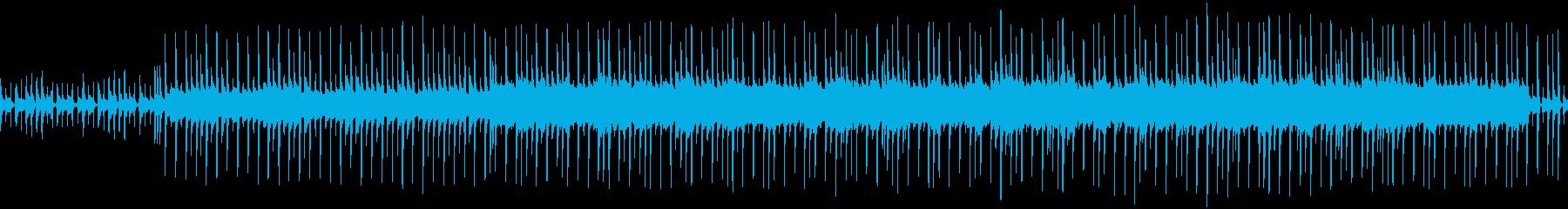 マリンバによるのんびりとしたループ曲の再生済みの波形