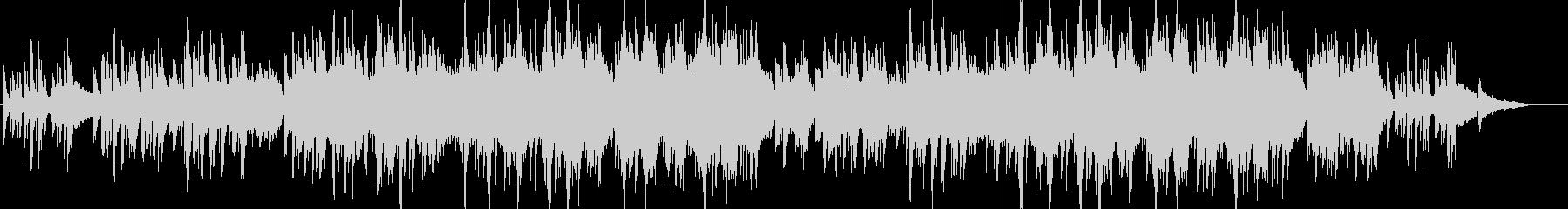 [ビートなし]ピアノと弦の感動を誘う曲の未再生の波形