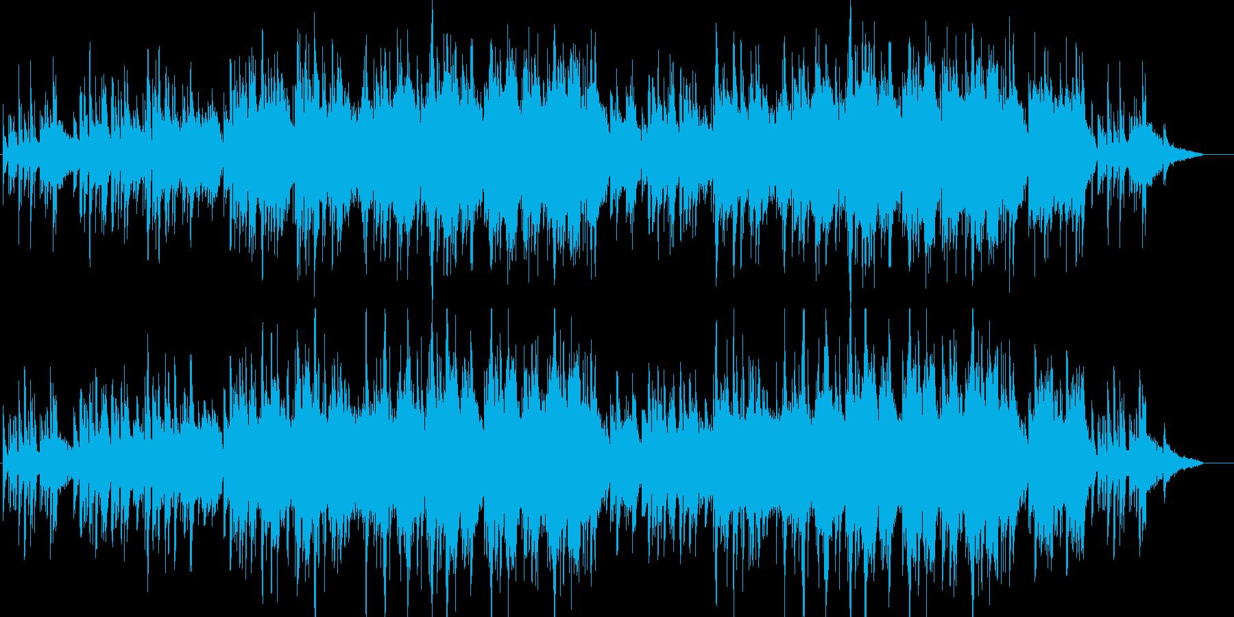 [ビートなし]ピアノと弦の感動を誘う曲の再生済みの波形