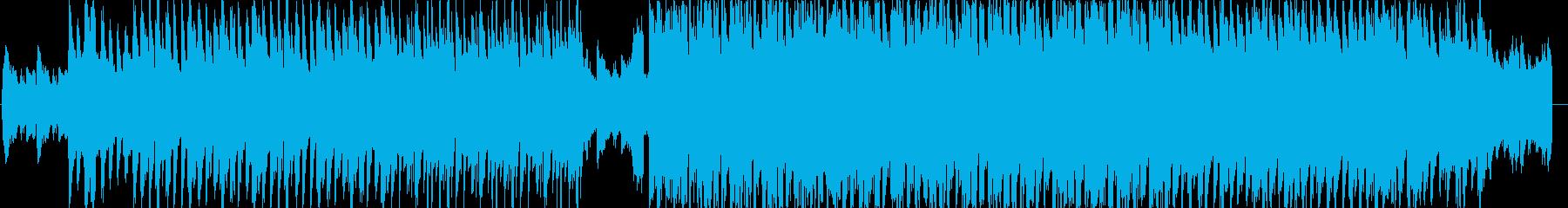 先進的でオシャレな雰囲気の電子音楽の再生済みの波形