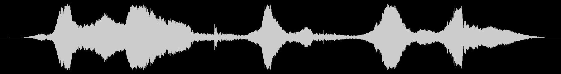 スーパースポーツ:高速で5つの近接パスの未再生の波形