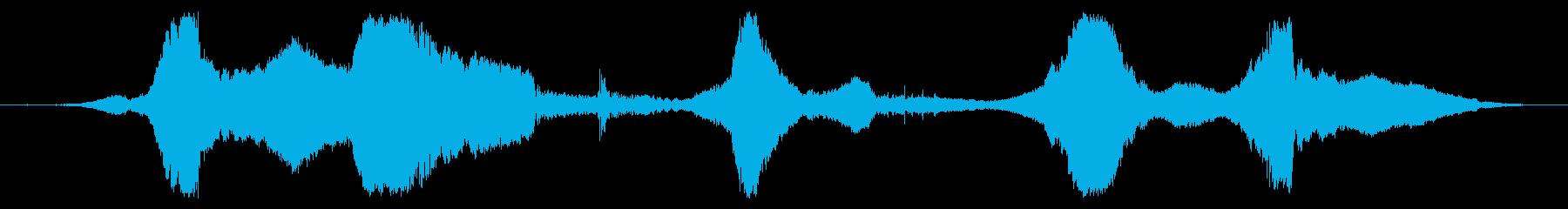 スーパースポーツ:高速で5つの近接パスの再生済みの波形