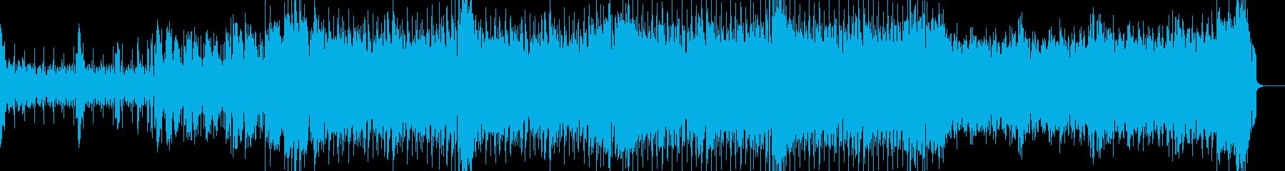 シンプルなフレンチハウスの再生済みの波形