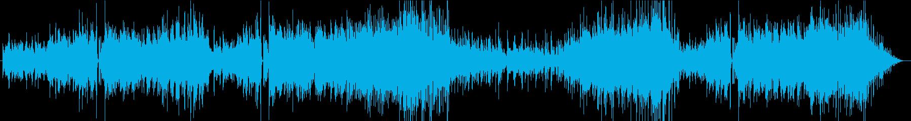 青い海が見えてくる爽やかなピアノインストの再生済みの波形