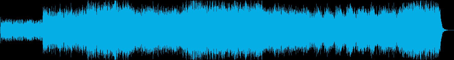 疾走感のあるエレキギターが特徴のロックの再生済みの波形