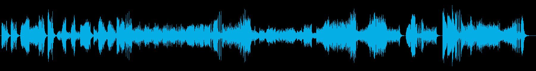 お洒落で軽快な弦楽四重奏の再生済みの波形