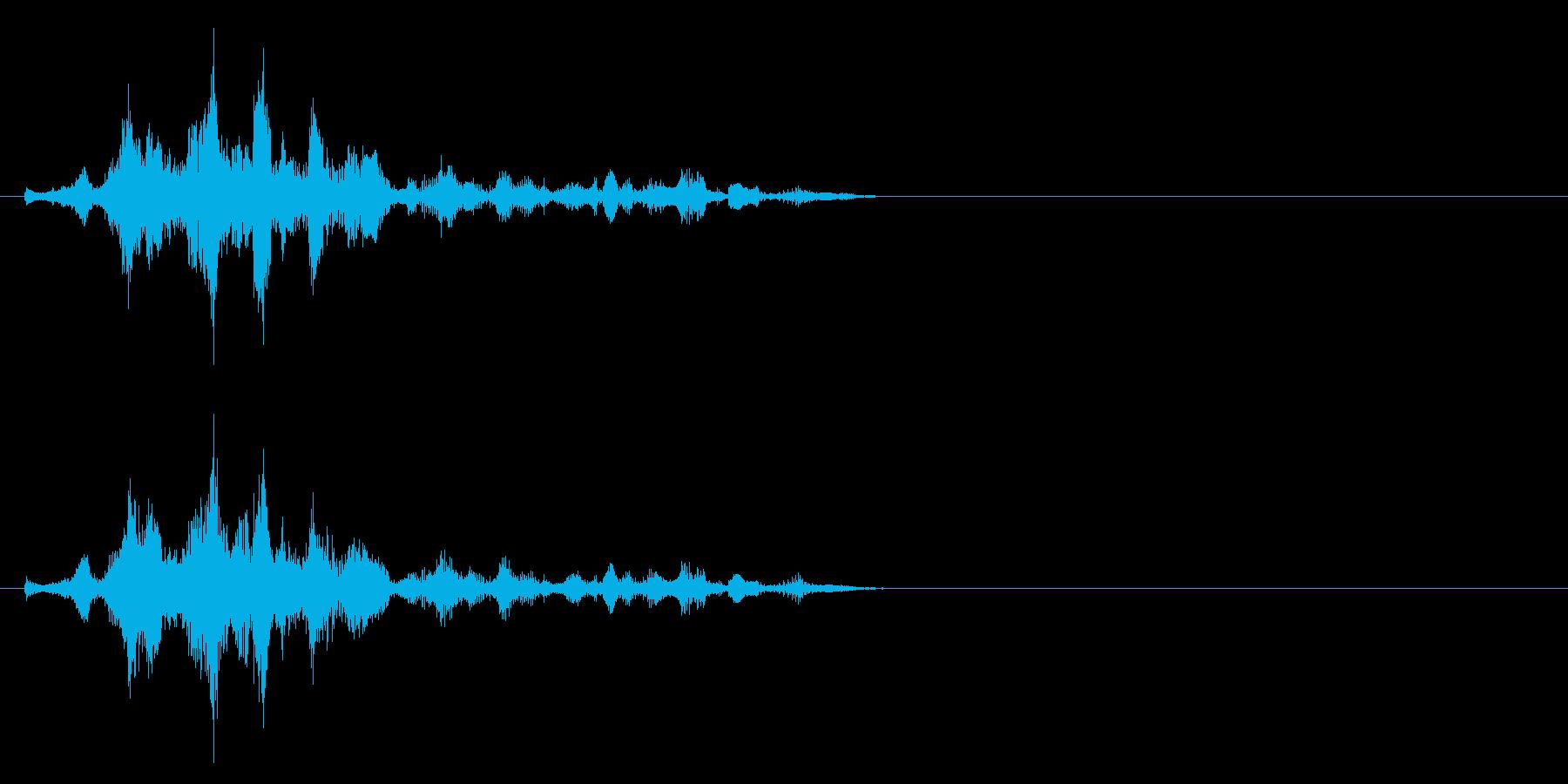 短い笑い声の再生済みの波形