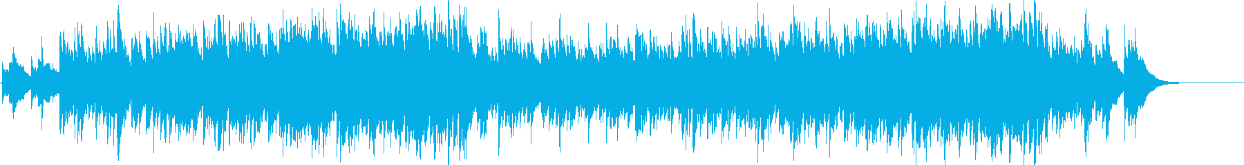 癒しギターのヒーリングBGMの再生済みの波形