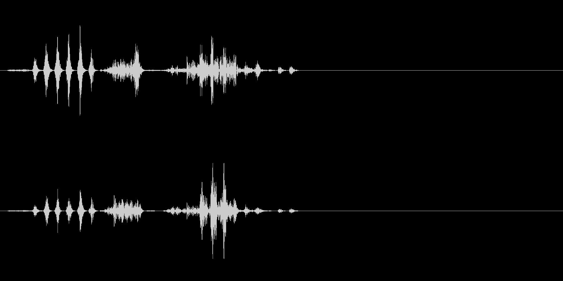 エイリアンの発声 2の未再生の波形