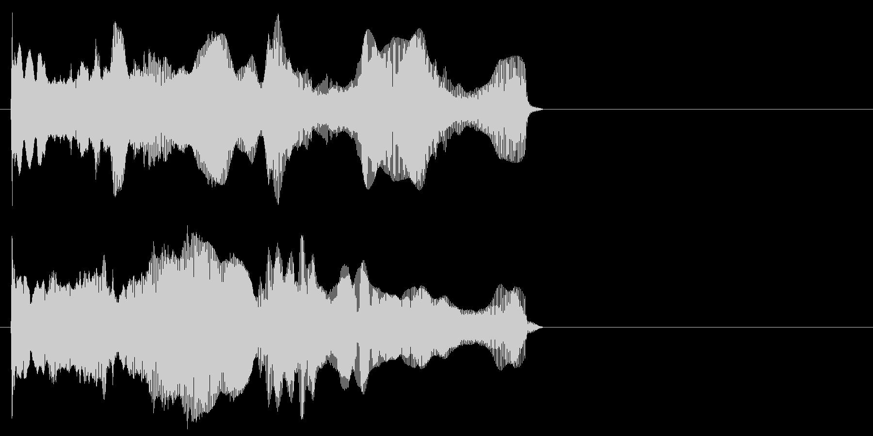 ディーーン(近未来的な上昇音)の未再生の波形