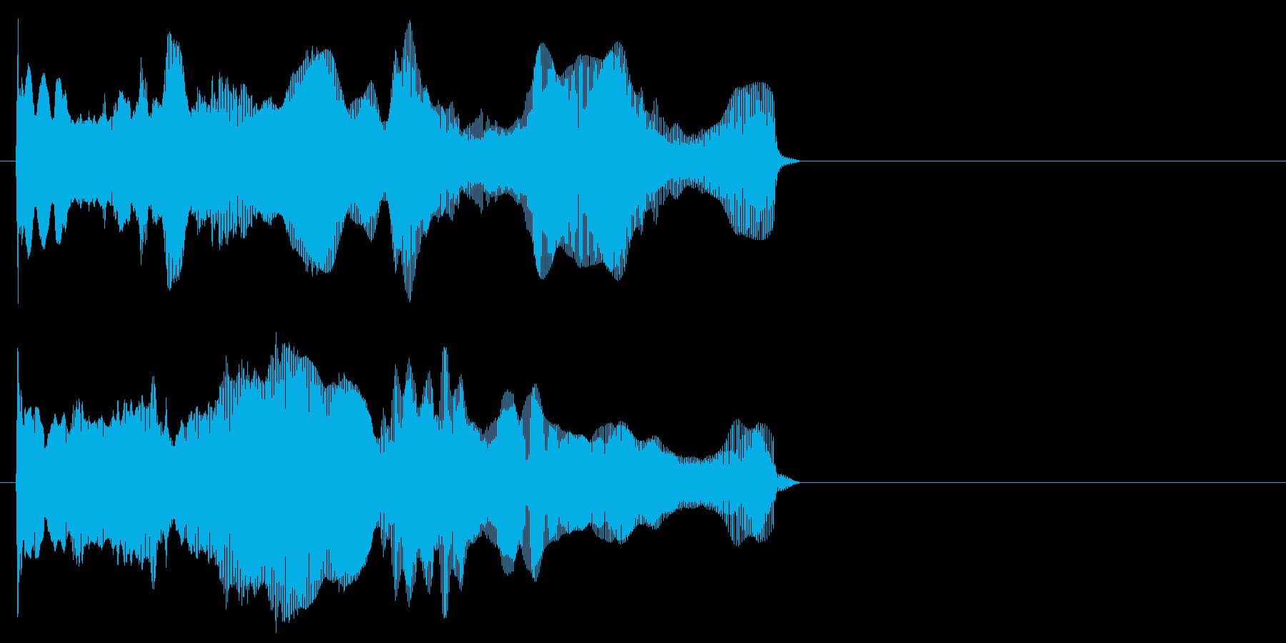 ディーーン(近未来的な上昇音)の再生済みの波形