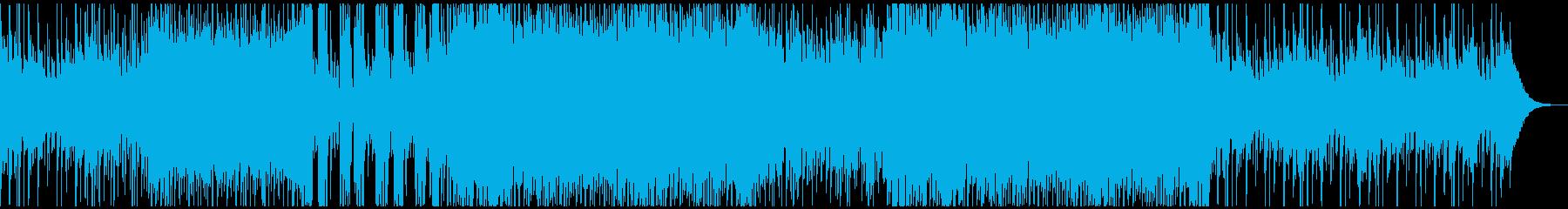 琴とシンセサウンドが融合したクールBGMの再生済みの波形