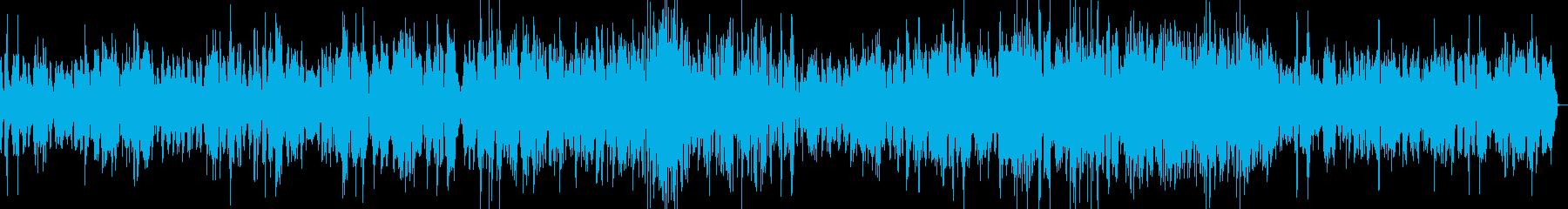 ピアノとギターのジャズトリオの再生済みの波形